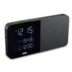 $100.00 Braun Digital Clock Radio, Black