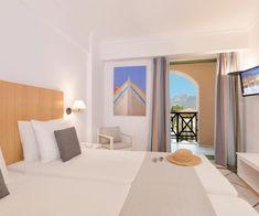 Samaina Inn holidays in Karlovassi Samos - enjoy a vacation in the Mediterranean. Above all, relax and rejuvinate in the Aegean Sea. Samos, 4 Star Hotels, Good Night Sleep, Seaside, Flat Screen, Relax, Room, Furniture, Island