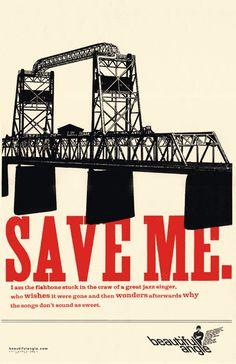 Image of Beautiful Angle poster, Save Me.