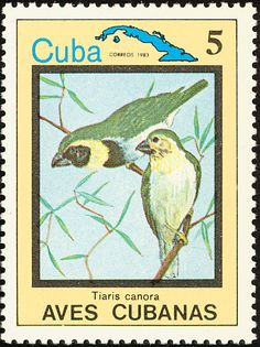 Cuban Grassquit stamps - mainly images - gallery format