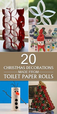 Don't throw up your empty toilet paper rolls. it's a perfect time to use it in your Christmas decoration! Cool and creative Christmas crafts you can make out of toilet paper rolls. Toilet Paper Roll Diy, Paper Towel Roll Crafts, Toilet Roll Craft, Toilet Paper Roll Crafts, Toilet Paper Tubes, Paper Towel Rolls, Christmas Toilet Paper, Christmas Crafts For Kids, Christmas Art