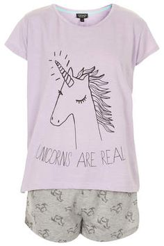Unicorn Pyjama Set - Nightwear - Clothing if you get the supernatural reference this has a whole new meaning. Cute Pjs, Cute Pajamas, Cotton Sleepwear, Cotton Pyjamas, Pajamas All Day, Real Unicorn, Unicorn Emoji, Funny Unicorn, Unicorn Kids