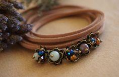 Boho Jewelry Winterberry Leather Wrap BraceletHeadband by ByLEXY