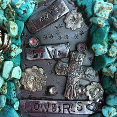 Turquoise buckle by Cowgirlz Candy