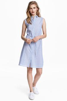 Vestido camisero - Azul/Rayas - MUJER   H&M ES