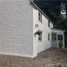 Cottage Exterior in FB Shaded White No. Mizzle (Verdigris) No.