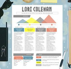 9 best Colorful Infographic Resume Template images on Pinterest ...