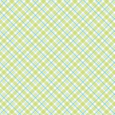 Recollections™ Green Blue Plaid Open Stock Paper