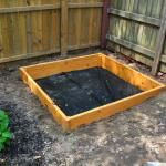 Use these instructions to make a sandbox to build a raised bed vegetable garden.