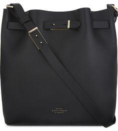 SMYTHSON Albemarle medium leather bucket bag