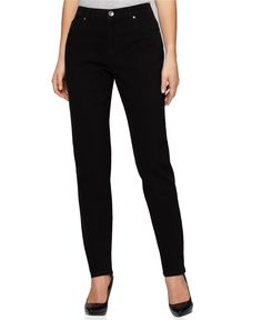 Style & Co. Straight-Leg Tummy- Control Jeans, Colored Wash - Jeans - Women - Macy's
