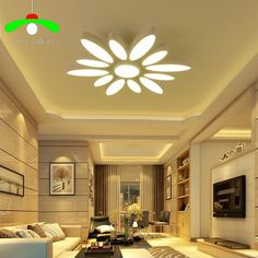 The living room is the place where friends and family gather to spend quality time in a home, so it's important for living room ideas to be well-designed. Ceiling Design Living Room, Bedroom False Ceiling Design, Ceiling Light Design, Chandelier In Living Room, Home Ceiling, Ceiling Decor, Led Ceiling Lights, Living Room Lighting, Pooja Room Design