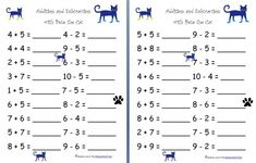 Free Worksheets: Addition and Subtraction with Pete the Cat