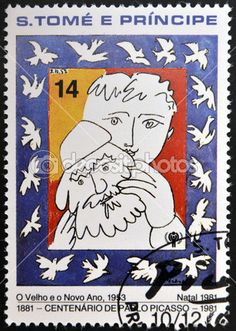 Sao Tome and Principe - circa a stamp printed in Sao Tome shows the old and new year, Pablo Picasso, circa 1981 - Photos by Pablo Picasso, Stamp Printing, High Resolution Picture, Picture Search, Stamp Collecting, Postage Stamps, Old And New, Old Things, Royalty Free Stock Photos
