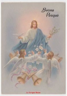Buona Pasqua Gesù - BuongiornissimoCaffe.it Vintage Holy Cards, Vintage Postcards, Italian Memes, Holy Week, Jolie Photo, Lent, Emoticon, Happy Easter, Jesus Christ