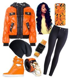 """Casual Black N Orange"" by blctopaz1 on Polyvore featuring Moschino, Posh Girl, Salvatore Ferragamo, Joules, Casetify, women's clothing, women, female, woman and misses"