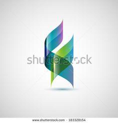 Abstract shape, ribbons, eps10 vector - stock vector