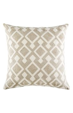 Free shipping and returns on KAS Designs Bayer Decorative Pillow at Nordstrom.com. A plush cotton pillow updated with woven embroidery adds a natural touch to your home.