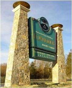 Foxwoods casino monument sign