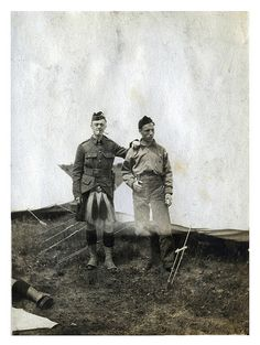 Canadian WWI Soldiers Portrait at Camp