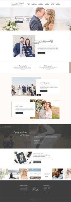 Contemporary art deco inspired Showit + WordPress website design for Philadelphia wedding photographers Josiah & Steph | By Davey & Krista