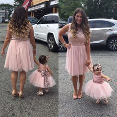 Mommy & me ❤️ Her little princess is wearing our Aisha Dress in Rose Gold and our Gjergjani shoes in rose gold too ✨ Shop her outfit 👉🏽… Mommy Daughter Dresses, Mother Daughter Shirts, Mommy And Me Dresses, Mother Daughter Fashion, Baby Girl Dresses, Baby Dress, Flower Girl Dresses, Kids Outfits Girls, Cute Outfits For Kids