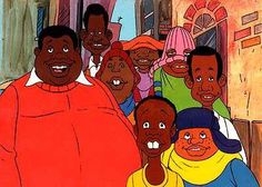 "it's Fat Albert."" Fat Albert and the Cosby kids Alter Ego, Looney Tunes, Cosby Kids, Old School Cartoons, 1970s Cartoons, Famous Cartoons, Black Cartoon, Fat Cartoon, Cartoon Art"