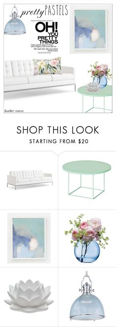 """""""Pastel Home Decor"""" by heather-reaves ❤ liked on Polyvore featuring interior, interiors, interior design, home, home decor, interior decorating, Knoll, LSA International, Godinger and Maxim"""
