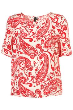 Paisley Silk Tee By Boutique