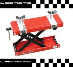 The BikeTek Premium Motorbike Mini Lift Jack is suitable for lifting Motorbikes with a flat base or tubular frame, lifting from to The height and width adjustable cup supports can be added for for additional clearance of sumps. Motorbike With Sidecar, Bike Lift, Motorbike Accessories, Scooters For Sale, Buy Motorcycle, Garage Tools, Touring Bike, Karting, Metal Furniture