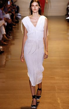 PLEATED WHITE DRESS - Altuzarra - S/S 2016