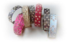 coleção de coleiras para cães e gatos com aplicação de cristais swarovski.