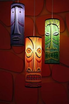 Tiki Lamps by SHAG    Party idea: wrap paper around soda bottles and illuminate