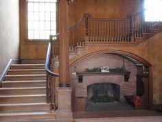 Very unusual under-the-staircase inglenook found at Spencer House Inn, St Mary's GA
