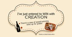 I've entered to #win a case of @CreationWines by watching their new BUY ONLINE advert. Watch it here and enter http://woobox.com/6vr2xj