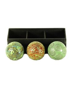 Take a look at this Ceramic Ball - Set of Three by Galt International on #zulily today!