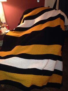 Boston Bruins colors.. Going to make a car seat blanket for Gavyn in this colour combo
