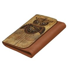 ★SOLD my #Steampunk #Owl #Vintage #Style #Wallet ★  -  by BluedarkArt on #Zazzle  -  $43.95  -   Thanks a lot to the Buyer(ツ)  http://www.zazzle.com/steampunk_owl_vintage_style_wallet-256958785553776986