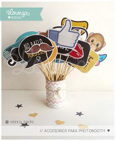 Invitaciones de Casamiento / 15 años / aniversarios especiales PROPS PARA PHOTOBOOTH Lorenza Diseño / facebook: https://www.facebook.com/lorenza.disenoLorenza Diseño