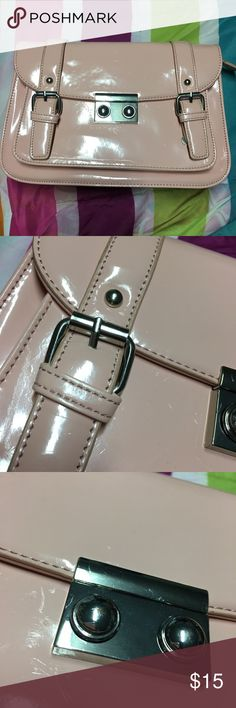 Forever 21 Pink Crossbody Cute pink faux leather Crossbody Bag!  There are some scratches on the exterior of the bag but I got the bag like that Forever 21 Bags Crossbody Bags