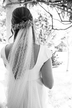 Love the idea of having a patterned veil or a lace veil against a plain white dress