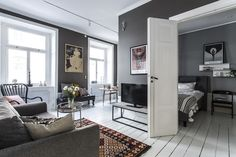 Small grey apartment