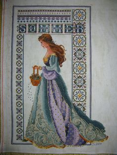 Celtic Summer Lady, cross stitch by Chris at krisell.de, pattern by Lavender and Lace