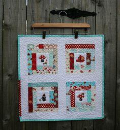 Charity quilt by zaydia {modernbiasblog.com}, via Flickr | 100 ... : mini quilt hangers - Adamdwight.com