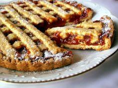 Linzer reteta Linzer-Torte, o tarta delicioasa cu aluat fraged si gem Romanian Desserts, Gem, French Toast, Bacon, Sweet Treats, Deserts, Cooking, Breakfast, Food
