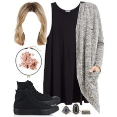 Edgy Hanna Marin inspired outfit with all black Converse sneakers