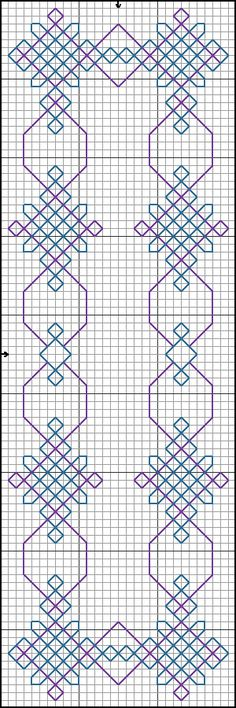 segnalibro astratto punto scritto Blackwork Cross Stitch, Cross Stitch Borders, Cross Stitching, Cross Stitch Patterns, Kasuti Embroidery, Cross Stitch Embroidery, Embroidery Patterns, Hand Embroidery, Diy Bordados