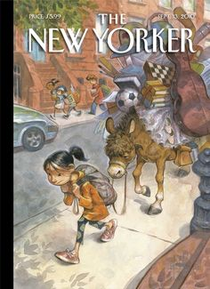 "The New Yorker - Monday, September 13, 2010 - Issue # 4371 - Vol. 86 - N° 27 - Cover ""Beast of Burden"" by Peter de Sève"