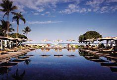 Beach Tree Pool at  Four Seasons Resort Hualalai #Hawaii #travel