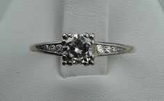 Vintage 1940's Twotone 14k Gold and Diamond by rubylanejewelers, $1930.00